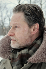 Actor Henrik Norman in snow
