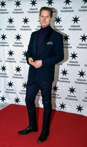 Actor Henrik Norman on red carpet Västerås International Film Festival 2019