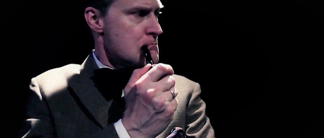 Actor Henrik Norman as Sherlock Holmes