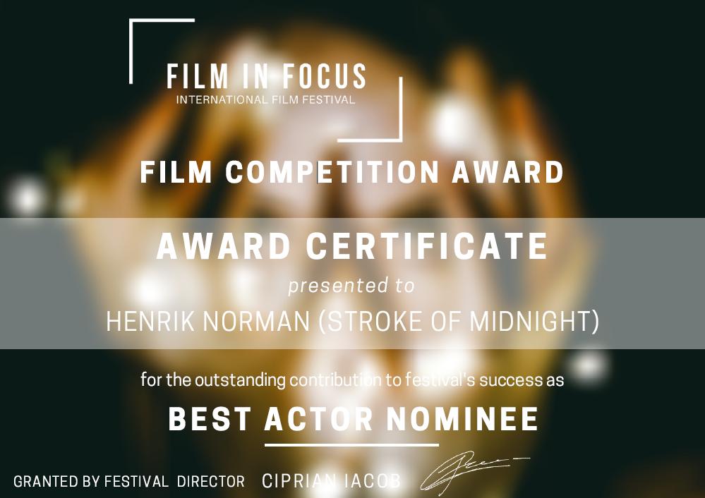 Henrik Norman nominated best actor